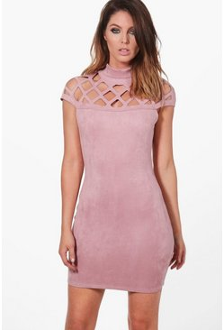 Wanda Bonded Suedette Bodycon Dress