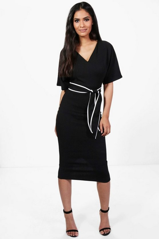 Rosey Kimono Tie Waist Formal Midi Dress