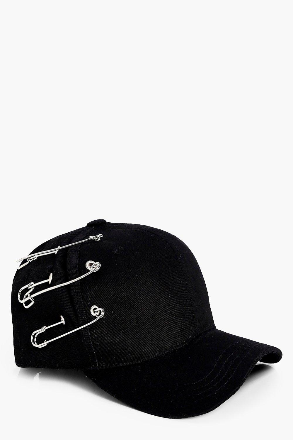 Safety Pin Baseball Cap - black - Freya Safety Pin