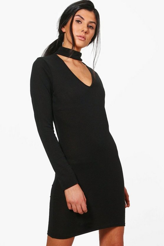 Jessica Choker Knitted Bodycon Dress