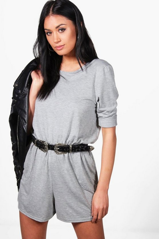 Laura Casual 3/4 Sleeve Playsuit