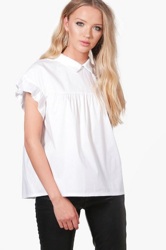 alice blusa intessuta con colletto
