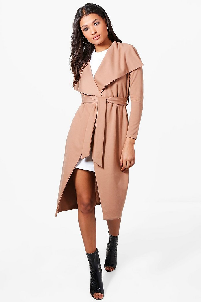 Jenna Ponte Waterfall Belted Duster