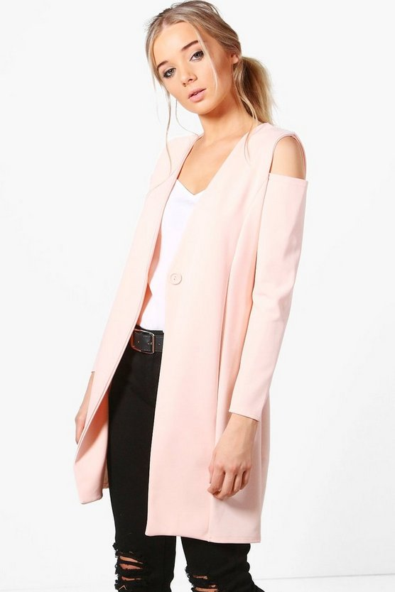 Jasmine Cold Shoulder Tailored Duster
