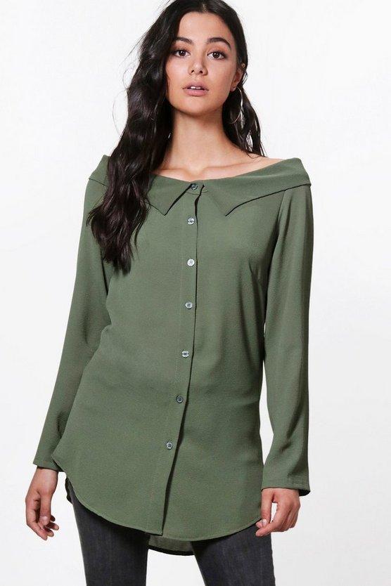 Ella Woven Button Through Blouse