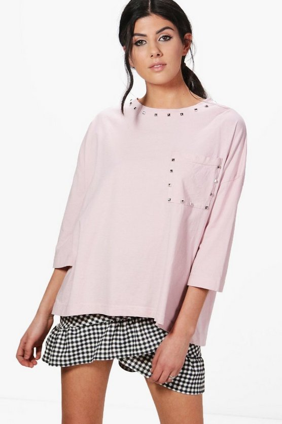 Freya Studded Oversized T-Shirt