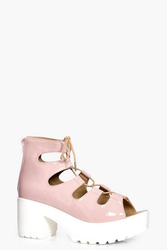 Julia Lace Up Cleated Sandal