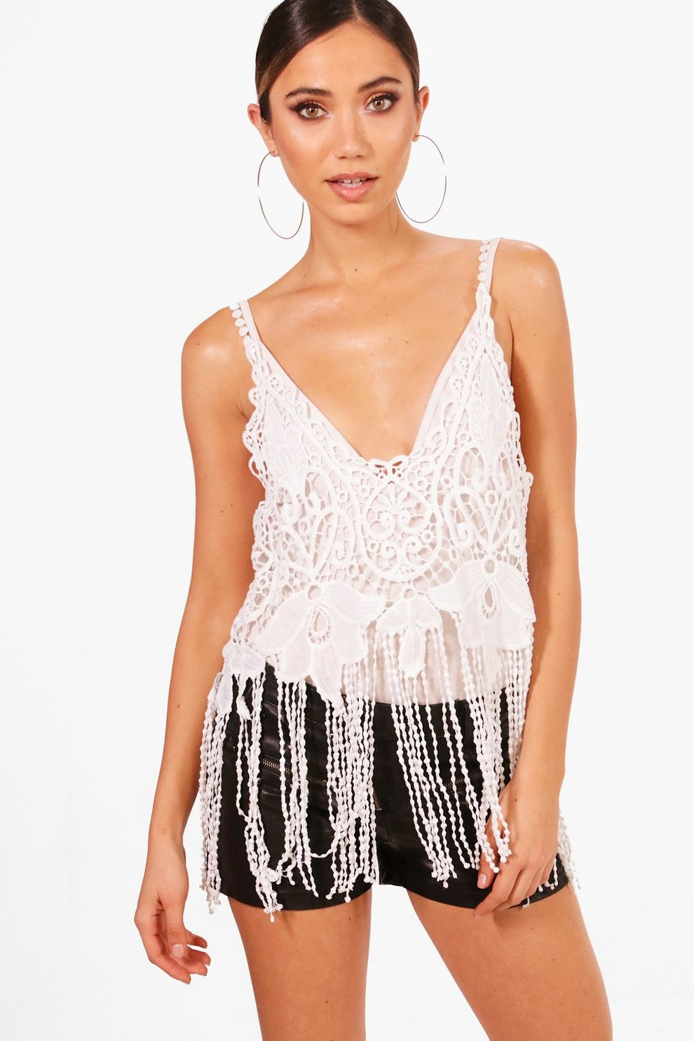 Boohoo Crochet Tassle Bralet Discount Purchase Free Shipping Discount Outlet Clearance Release Dates J2j9ZGshmE