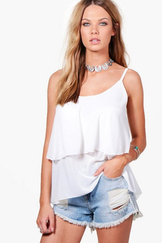 Erin Woven Tiered Cami