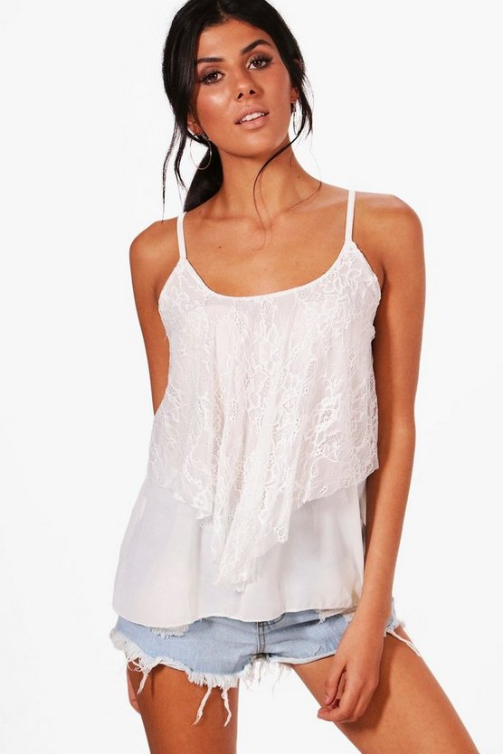 Katie Lace Double Layer Woven Cami