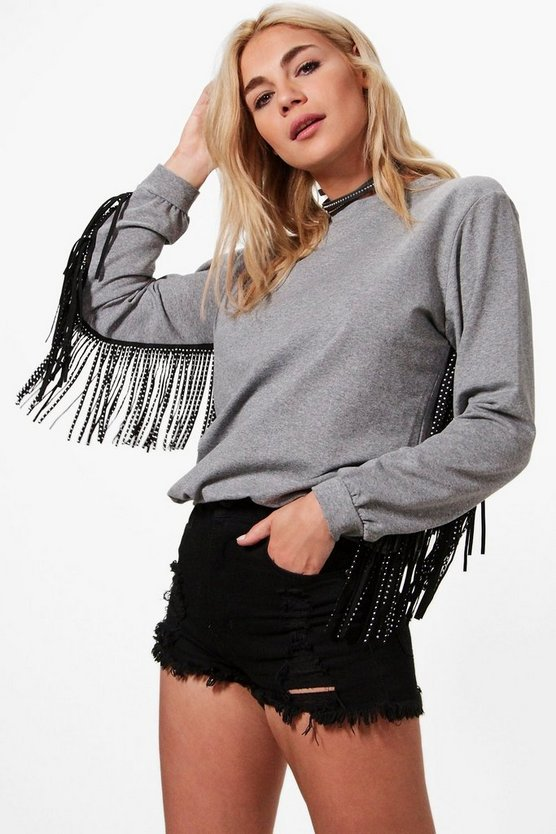 Sophie Premium Tassle Detail Sweat Shirt