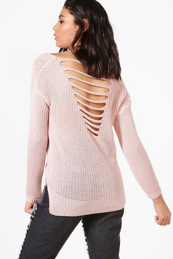 Marie Ladder Back Lightweight Jumper