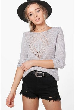 Emma Fine Knit Cable Design Jumper