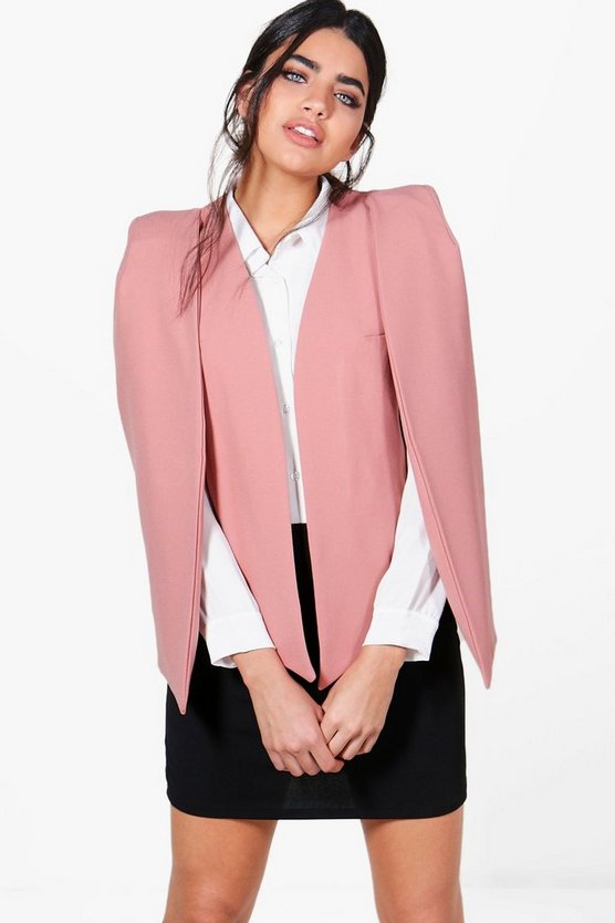 Clara Woven Tailored Cape Blazer