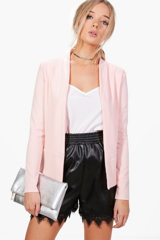 Brooke Collarless Ponte Blazer