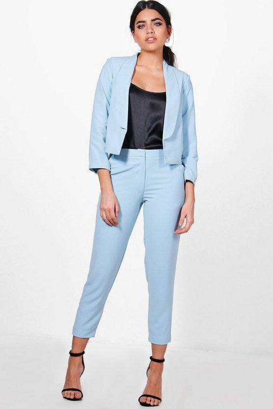 Lucy Ankle Grazer Woven Tailored Trouser