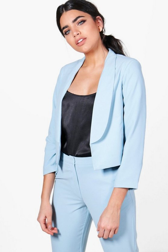 Lucy Collared Lined Woven Tailored Blazer