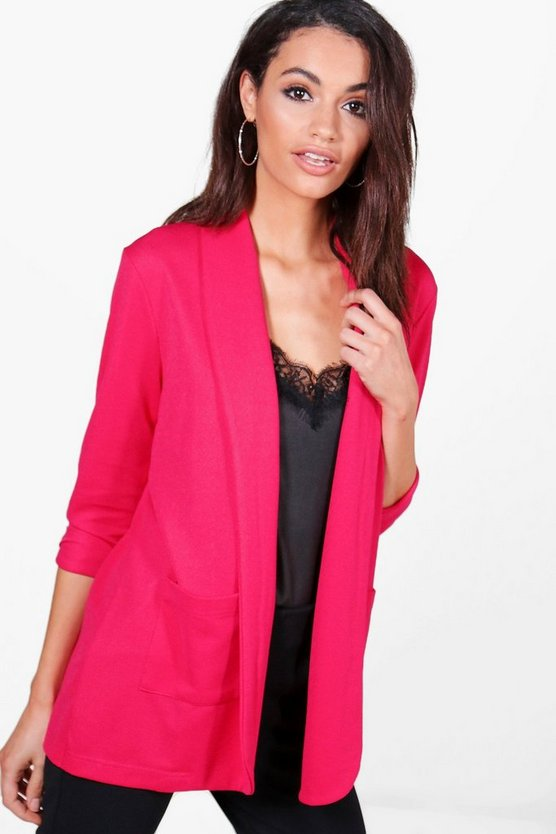 Sarah Textured Pocket Blazer