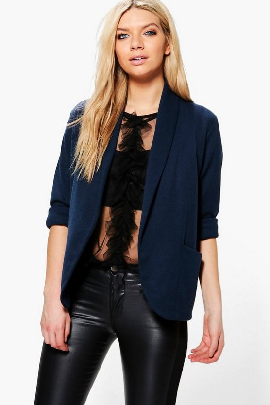Mia Relaxed Pocket Blazer With Wide Cuff