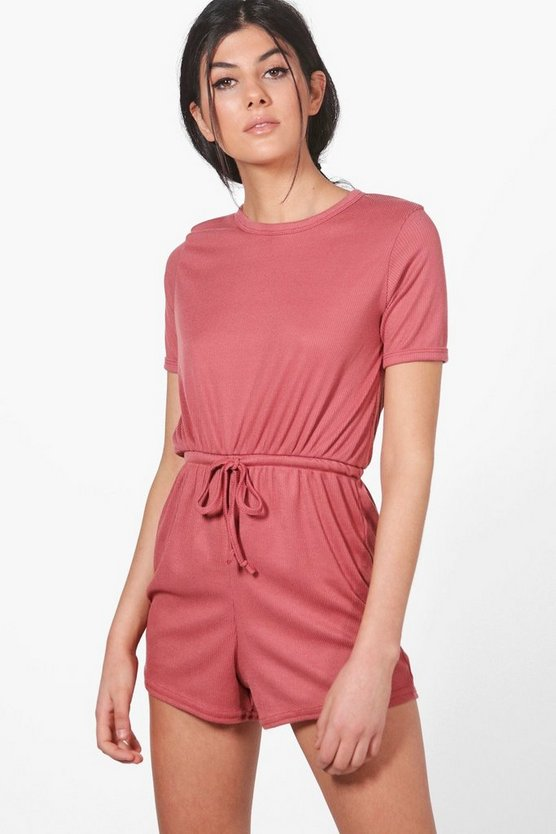 Sarah Rib Knit Lounge Playsuit