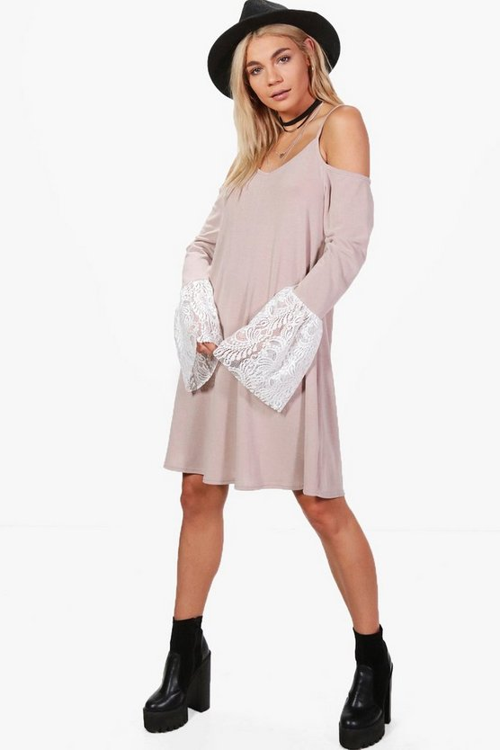 Leah Lace Bell Sleeve Knitted Tunic