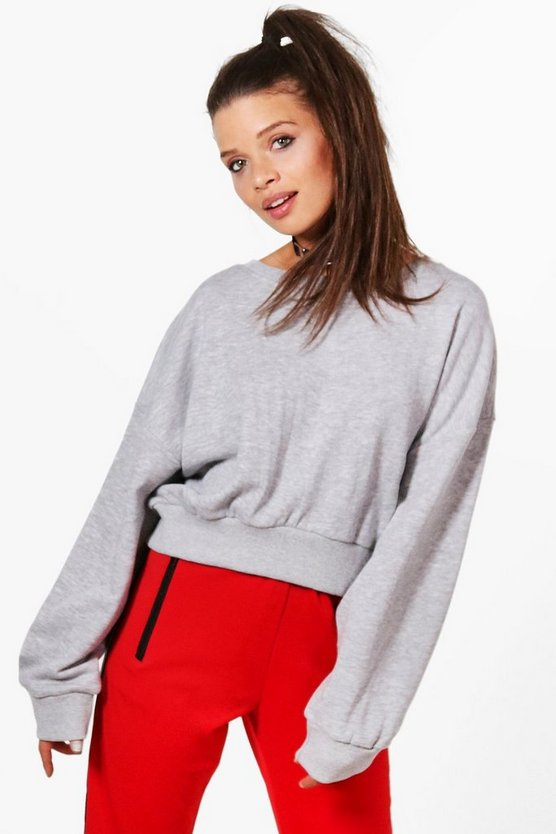 Harriet Oversized Slouchy Crop Sweatshirt