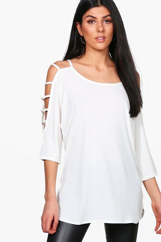Amelia Strappy Sleeve T-Shirt