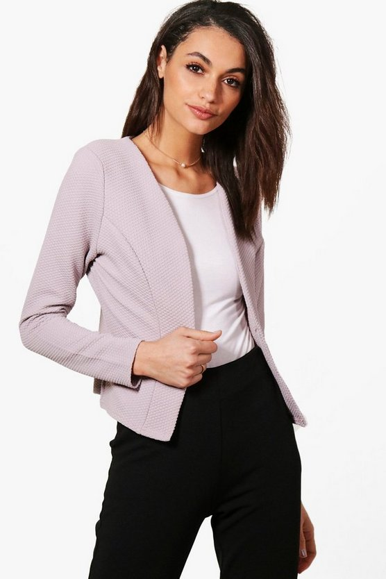 Kate Jacquard Crop Blazer
