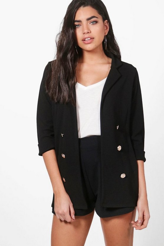 Penny Button Front Blazer