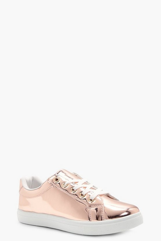 Maddison Rose Gold Mirror Trainer