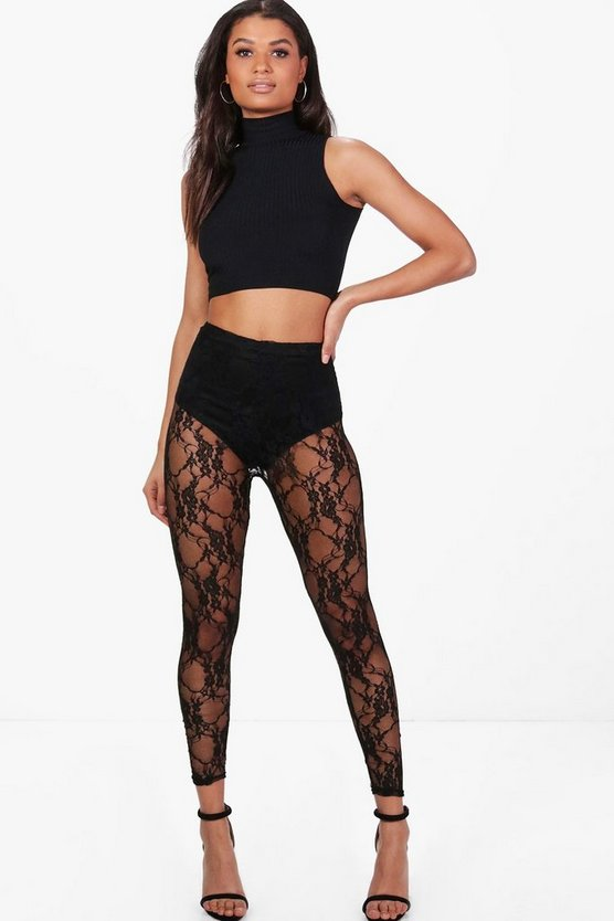 Adara Lace Full Length Leggings