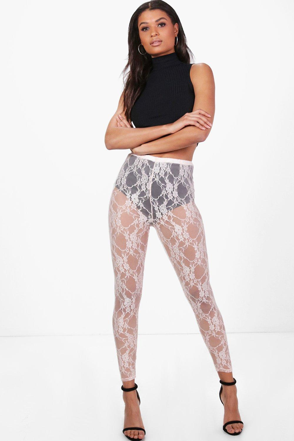 Adara Lace Full Length Leggings nude
