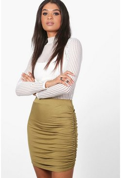 Esme Rouched Side Jersey Mini Skirt