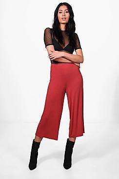 Violet Schlichter Hosenrock aus Jersey mit weitem Bein - Boohoo.com