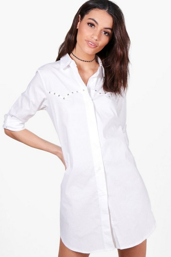 Lola Studded Shirt Dress