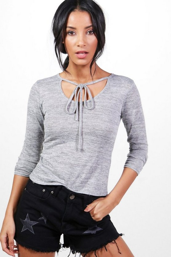 Joanna Tie Neck Knitted Top