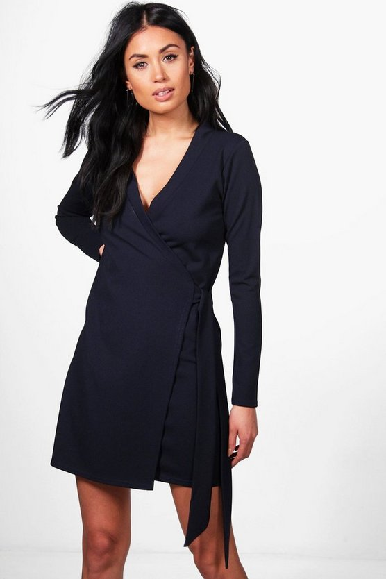 Sophie Tie Side Longline Blazer Dress