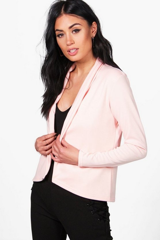 Laura Elongated Lapel Ponte Blazer