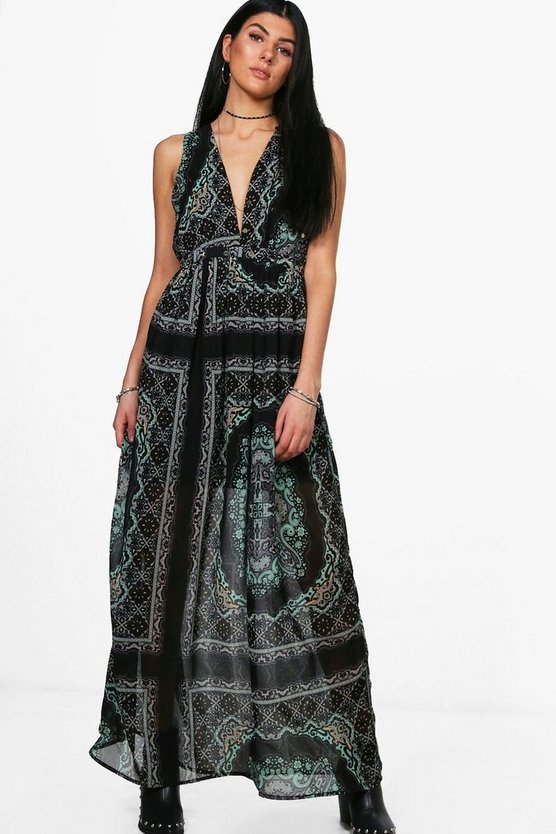 Neve Paisley Coin Maxi Dress