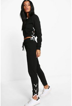 Aria Lace Up Sweat Jogger