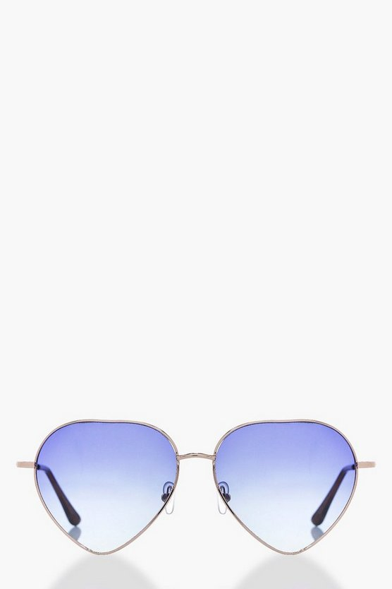 Lexi Blue Ombre Lense Heart Fashion Glasses