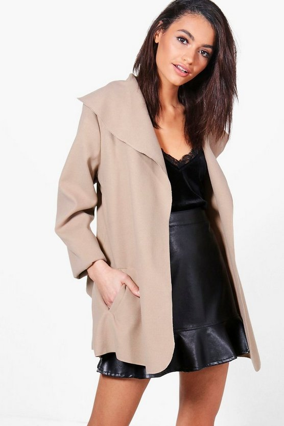 Harriet Belted Waterfall Jacket