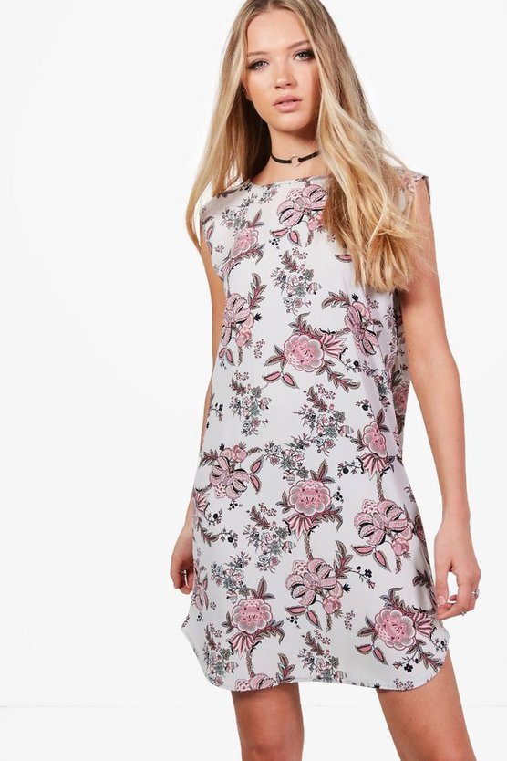 India Floral Paisley Shift Dress