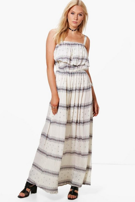 Lucy Strappy Frill Maxi Dress