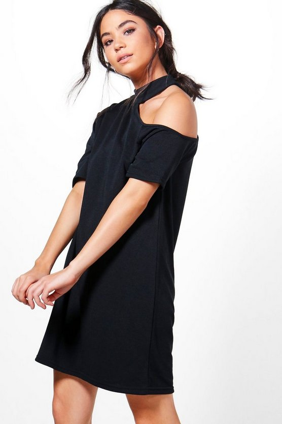 Ellie Choker Cold Shoulder Sweat Dress