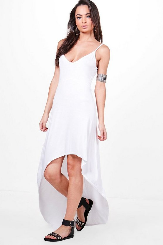 Lola High Low Hem Strappy Maxi Dress