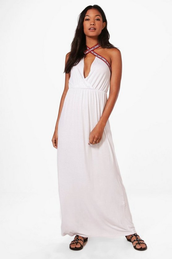 Maisy Cross Front Strappy Maxi Dress