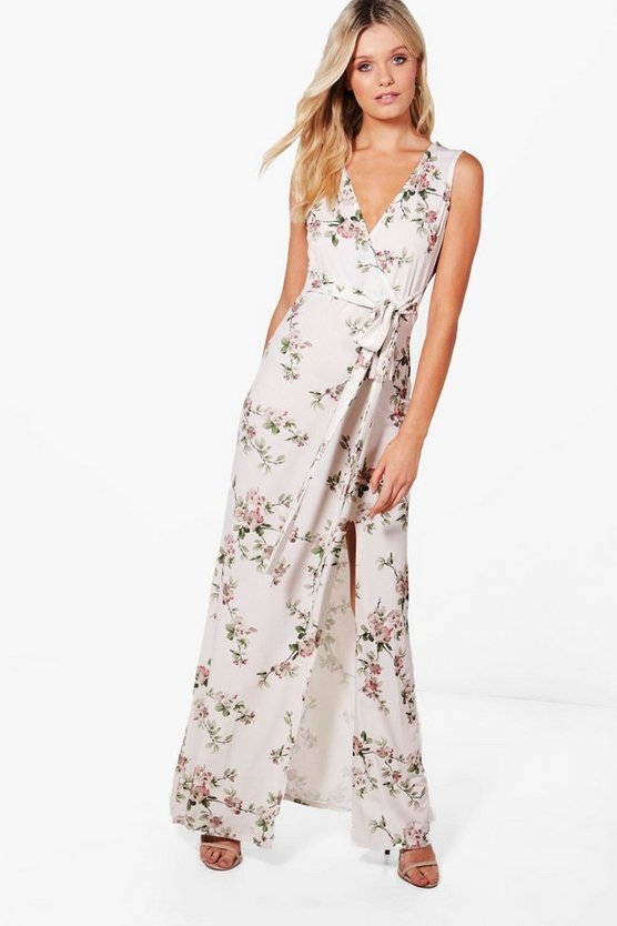 Jaclyn Floral Wrap Maxi Dress