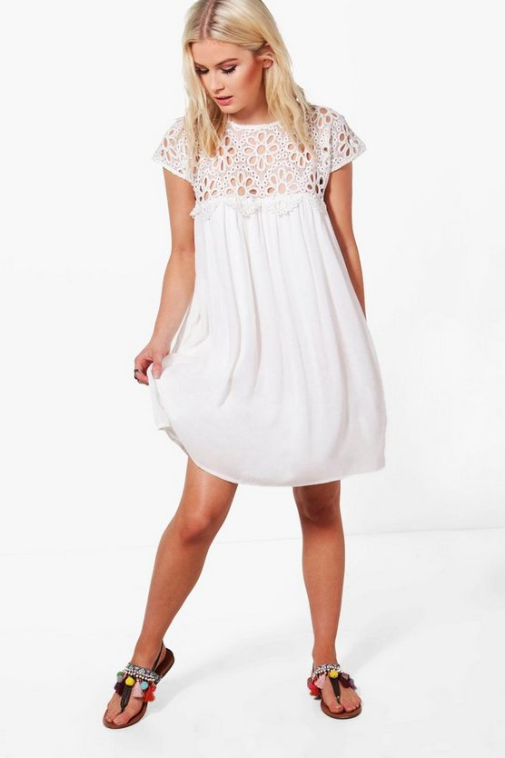 Boutique Lace Top Shift Dress