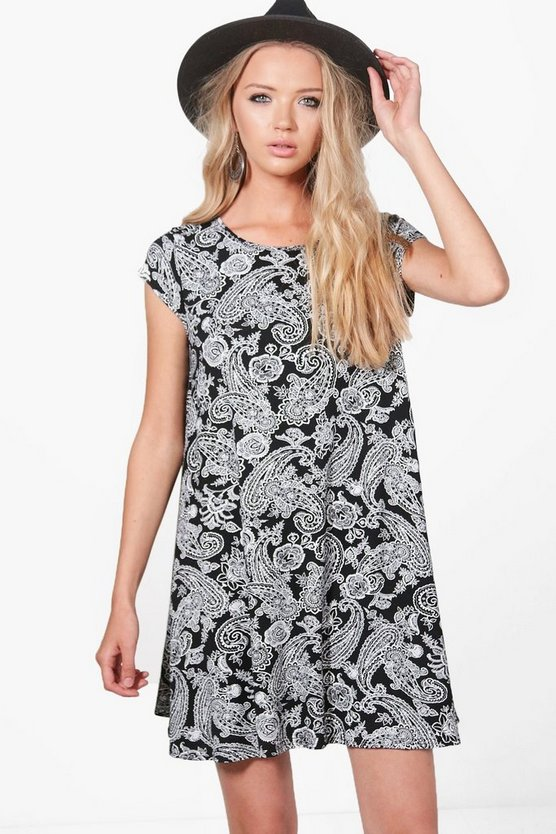 Agnieszka Paisley Swing Dress